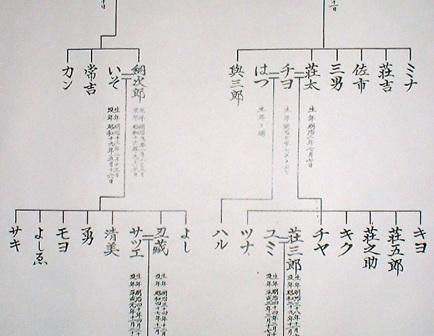 夫婦二系統縦系図